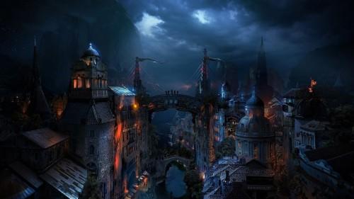 Dark-medieval-city